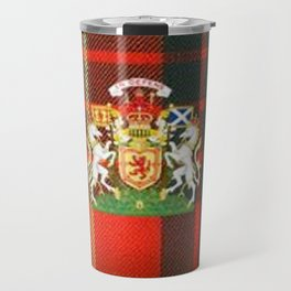 RED & GREEN CAMERON TARTAN ROYAL SCOTLAND Travel Mug