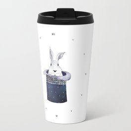 Mr. Rabbit and the Mad Hatter hat Travel Mug