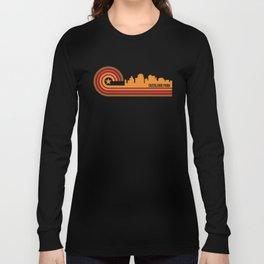 Retro Overland Park Kansas Skyline Long Sleeve T-shirt