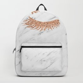 Rose gold marble lash envy Backpack