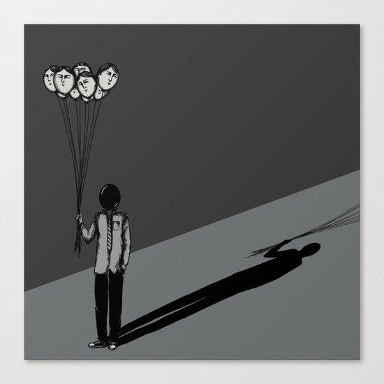 The Black Balloon Canvas Print