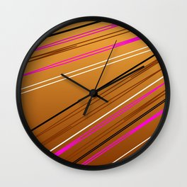 Soft Brown Wall Clock