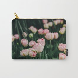 Blush Tulips By The Dozen Carry-All Pouch