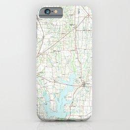 TX McKinney 118149 1985 topographic map iPhone Case