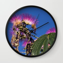 French flowering mimosa Wall Clock