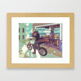 Beach Bike Framed Art Print