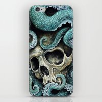 iPhone & iPod Skins featuring Please my love, don't die so far from the sea... by Voss fineart
