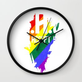 g.a.y. - Gay Pride T-Shirt Wall Clock