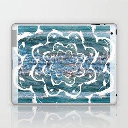white dolphins' gyre Laptop & iPad Skin