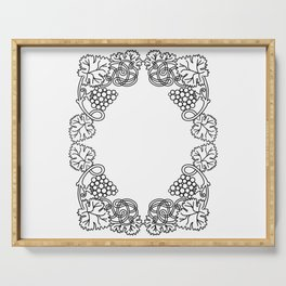Abstract floral frame Serving Tray