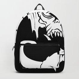 Halloween Demon Horns Skull Backpack