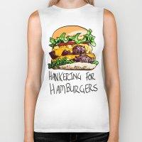 hamburger Biker Tanks featuring Hamburger by Let's Make Food Babies