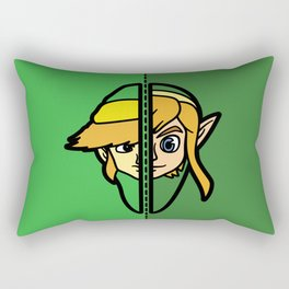Old & New Link Comparison Rectangular Pillow