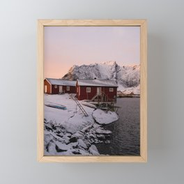 Winter in Lofoten Framed Mini Art Print