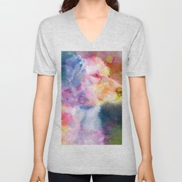 Small Dog Eyes Unisex V-Neck