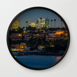 Newport at Night Wall Clock