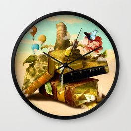 To Lands Away Wall Clock