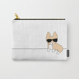 Corgi Dog in Sunglasses Carry-All Pouch