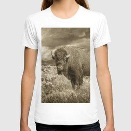 American Buffalo in Sepia Tone T-shirt