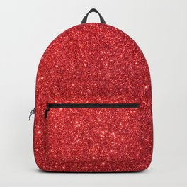 Soft Red Sparkly Valentine Sweetheart Glitter Backpack
