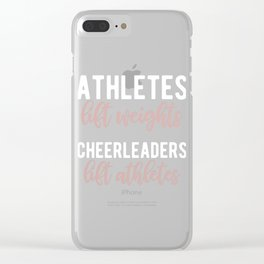 Funny Cheerleading Athlete Lifting Cheerleader Graphic Clear iPhone Case