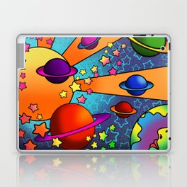 spacey groovy, peter max inspired Laptop & iPad Skin