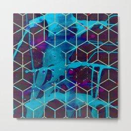 Phosphorescent Snails Metal Print