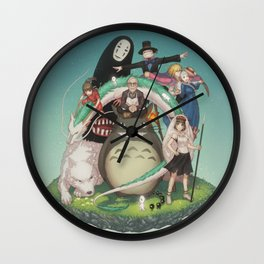 Ghibli: Bliss in Light Wall Clock