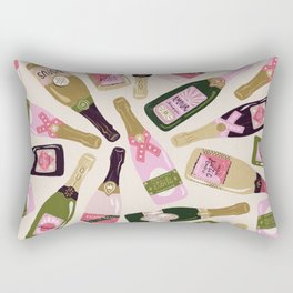 French Champagne Collection – Pink & Green Rectangular Pillow