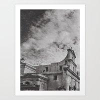 gotham Art Prints featuring Gotham by Gerardo Vélez +koifish&astronauts
