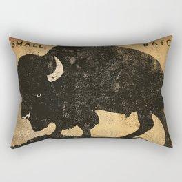 Bison Buffalo Whiskey Bourbon Rectangular Pillow