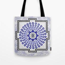 108 Evil Eye Sri Yantra Tote Bag