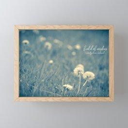 field of wishes Framed Mini Art Print