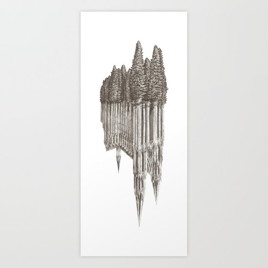 Gothic Revival on white Art Print