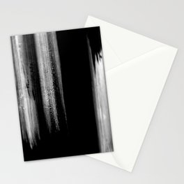 Black And White Bokeh Stripes Brush Strokes - Gothic Glam - Abstract - Corbin Henry Stationery Cards