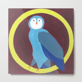 O is for Owl Metal Print