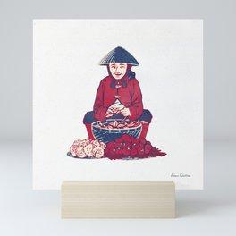 People of Vietnam - Market Lady in Saigon Mini Art Print