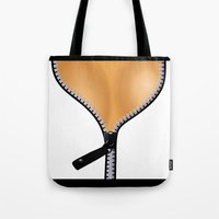 boobs Tote Bags featuring The BOOBS by BURPdesigns
