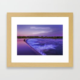 Early Morning at Ivanhoe crossing Framed Art Print
