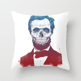Dead Lincoln Throw Pillow