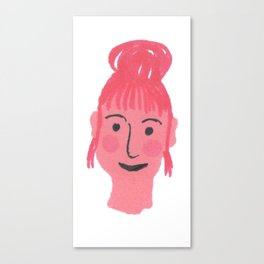 """""""Vicky"""" girl with bun and rosy cheeks Canvas Print"""