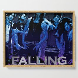 falling in reverse personel crew tour 2020 ngapril Serving Tray