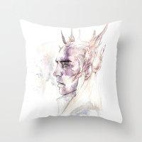 thranduil Throw Pillows featuring Thranduil by Caeruls