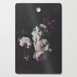 English Roses Still Life - Dark Number Two Cutting Board