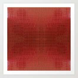 CrocLeather Red Art Print
