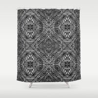 large Shower Curtains featuring Achrom Large by Sierra Neale
