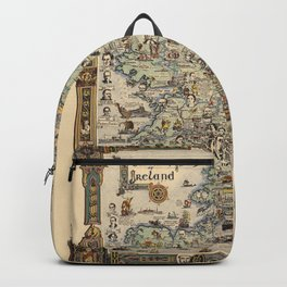 Map of Ireland Backpack