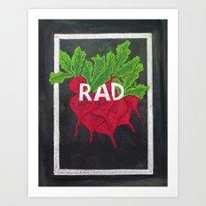 Rad(ish) Art Print