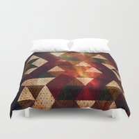 polygon Duvet Covers featuring Polygon by Tony Vazquez