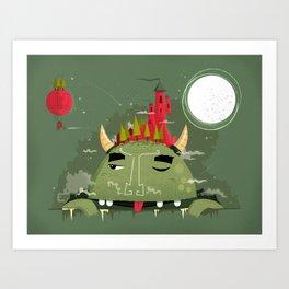 :::Heavy Burden::: Art Print